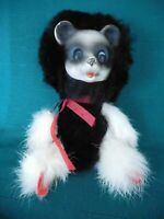 vintage articulated real fur skunk animal small toy