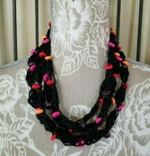 Bohemian Wood Beads Necklace Long Beaded Necklace N60