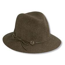 Womens Elegant Dressy Scala Premium Crushable Memory Wool Safari Style Brown Hat