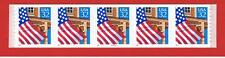 #2915a  MNH S/A  strip of 5 Flag over Porch w/#99999 Free S/H