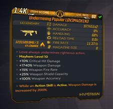Borderlands 3 | Undermining Popular L0V3M4CH1N3 | LVL 60 | Modded | XBOX / PS4