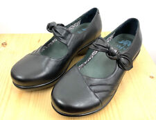 Dansko Ainsley Flats Size 40 US 10 Black Mary Janes Slip On Clogs Leather Shoes