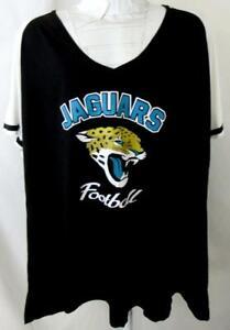 "Jacksonville Jaguars Women Plus Size 4X Screened ""JAGUARS FOOTBALL"" Tee AJJS 160"