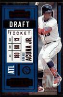 2020 Contenders Draft Ticket Red #64 Ronald Acuna Jr. /99 - Atlanta Braves
