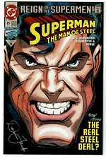 SUPERMAN The Man of Steel #25 SIGNED Dennis Janke Numbered COA