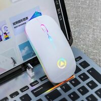 Rechargeable Mouse Wireless Silent LED Backlit Mice USB Optical Ergonomic Gaming