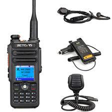 DMR Retevis RT82 UHF+VHF2200mAh Handfunkgerät+Earphone+Eliminator+SpeakerMic co