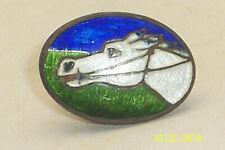 Vintage Victorian Enamel Guilloche Race Horse Clip Napkin Clip Lingerie Clip