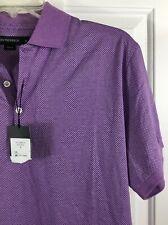 Jim Thompson Men's Classic Fit Golf Polo S/S Shirt Tri Purple Size M New! $115