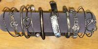 Vintage ~ Now Sterling Silver 925 Bangle Bracelet Lot of (11) G.F. Mexico 116g
