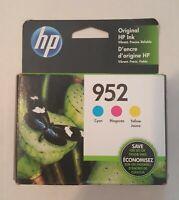 HP 952 High-Yield Original Ink Toner Cartridges - 3-Pack, Yellow/Cyan/Magenta...