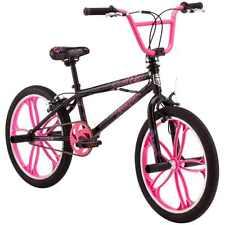 "20"" Old School Style Mongoose, Freestyle Kids Girls BMX Bike, Steel Black Frame"