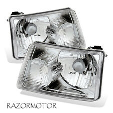 2001-2011 Replacement Headlight Lamp Pair For Ford Ranger Pickup Truck w/ Bulb