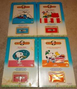 WORLD OF WONDERS TALKING SNOOPY BOOKS AND TAPES in BOXES, 2 UNOPENED