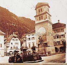 Altdorf canton d'Uri Suisse Photo L10 Plaque de verre Stereo Vintage