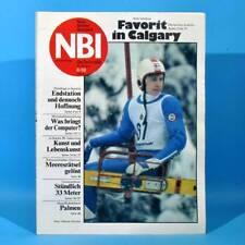 DDR NBI 6 1988 Computer Calgary Brecht Miß Albena Erdgastrasse Plastmodellbau P