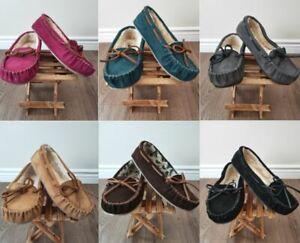 Brand New MINNETONKA Kayla Suede Slippers II 40192