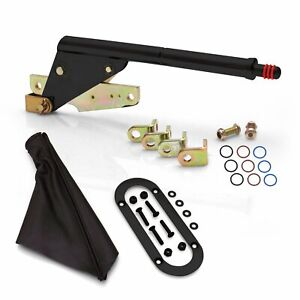 Emergency Parking Brake Complete Kit w Black Boot and Trim Ring for Lokar cables