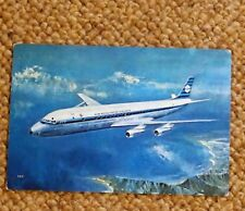 Postcard KLM Douglas DC-8 Intercontinental Jet Airplane in Flight