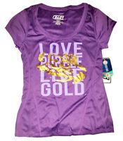 LSU Tigers Love Purple Live Gold T-Shirt - Purple Tee Size XL - NWT $32.99