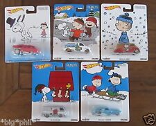 Hot Wheels 2016 Pop Culture PEANUTS complete set of 5 (A+/A)