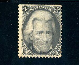 USAstamps Unused FVF US Serie of 1861 Jackson Scott 73 OG MHR