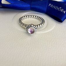 Authentic Pandora February Purple Amethyst Birthstone Ring Size 56 #190854AM