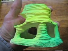 Vintage Neon Aquarium Fish Tank Bowl Decor reef building green yellow