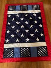 """Patriotic Lap Quilt, 35"""" x 49"""""""