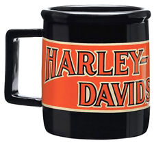 HARLEY-Davidson tazza - - - Nuovo di Zecca REGALO IDEALE-Biker Logo Black Orange