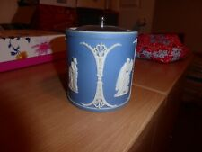 Wedgwood Blue Jasper ware lidded pot