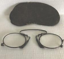 Antique Pince- Nez Vintage Spectacles In Original Case