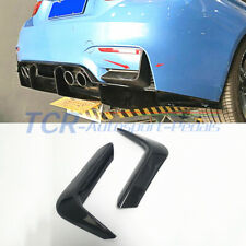 Carbon Rear Side Bumper Splitter Cover Trim For BMW M3 M4 F80 F82 F83 2014- 2017