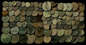 Coins Austrias Period, Medieval Times (Uncleaned) - 100  pieces Lot. Low quality