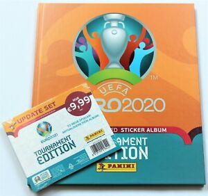 Panini EURO 2020 Tournament Edition Update Set 72 Stickers + Hardcover Album