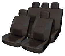 ALL Black Cloth Seat Cover Set Shoulder Pads Split Rear fits Suzuki Swift Twin