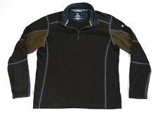 Kuhl Kashmira Mens Fleece Sweater 1/4 Zip Charcoal Olive Size Large
