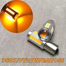 Front Turn Signal Light BAU15S 150° 7507 samsung 33 SMD LED Amber Bulb W1 JAE