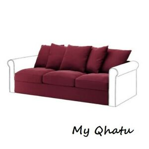 IKEA Gronlid (3) Seat Sofa Section Cover Ljungen dark red Cover 903.968.55  NEW