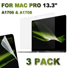 "3x CLEAR Crystal Screen Protector MacBook Pro 13"" A1706&A1708 with/out Touch Bar"