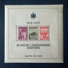 Albanien/Albania 1937 25 Jahre Unabhängigkeit Block 1 **/MNH/Postfrisch
