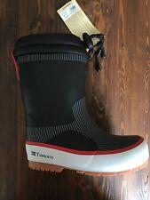 NEW Tretorn Boys Girls Sno Boots Rubber Black Lined Winter Rain 12 (EU 29)