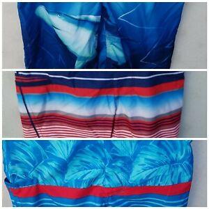 NWT Arizona Swim Trunks Board Shorts Shark or Strips or Blue Leaf S M L XL Husky
