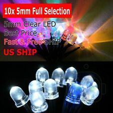 10Pcs 5mm Pre-Wired DC 9-12v Yellow Candle Light Water Clear Light LED Diodes