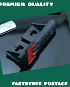 NEW AUDI S-LINE Emblem Black Matte Metal Badge For Front Grill A3 A4 S4 RS4 S3