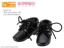 Azone Pureneemo Mannish Shoes Brillante negro Blythe Pullip Momoko 1/6 Obitsu