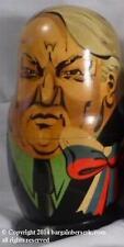 Vintage Ussr Russia Premier'S 7 Piece Wooden Matryoshka Nesting Dolls Cg160