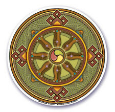 Mandala Arts Window Sticker: Dharma Wheel