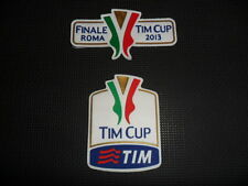 SET TOPPA PATCH BADGE TIM CUP COPPA ITALIA + FINALE ROMA 2013 GOMMINA AUTENTICA