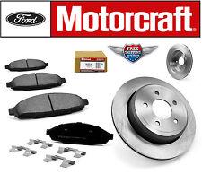 Set of 2 Front Disc Brake Rotor 54103 & Motorcraft Front Brake Pad BR931B